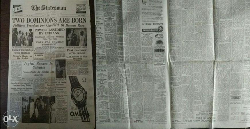 A copy of The Statesman newspaper