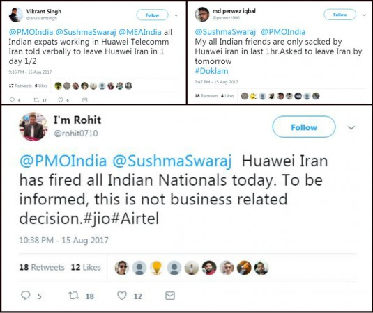 Huawei fires Indian employees