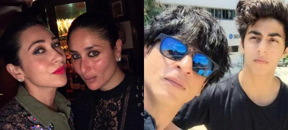 Kareena Kapoor Khan, Karisma Kapoor, Shah Rukh Khan, Aryan Khan