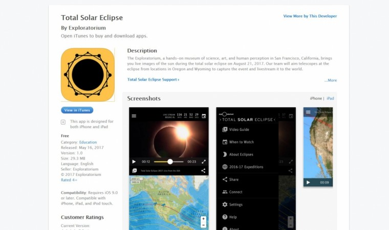Best Solar Eclipse 2017 apps on Google Play and Apple App