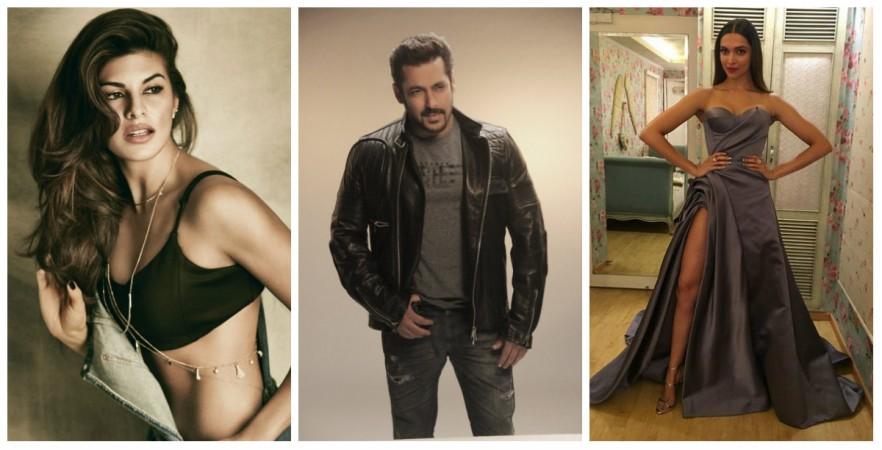 Jacqueline Fernandez, Salman Khan and Deepika Padukone