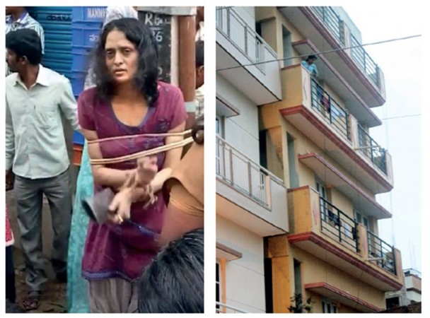 Mother throws daughter from terrace