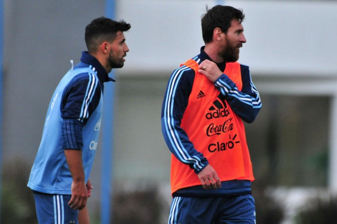 Sergio Aguero, Lionel Messi, Argentina,
