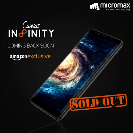 Micromax Canvas Infinity sale day 1