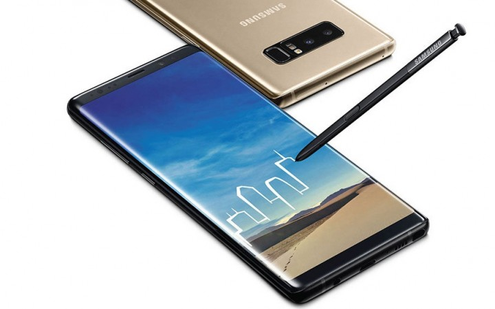 Samsung Galaxy Note 8 as seen on its website