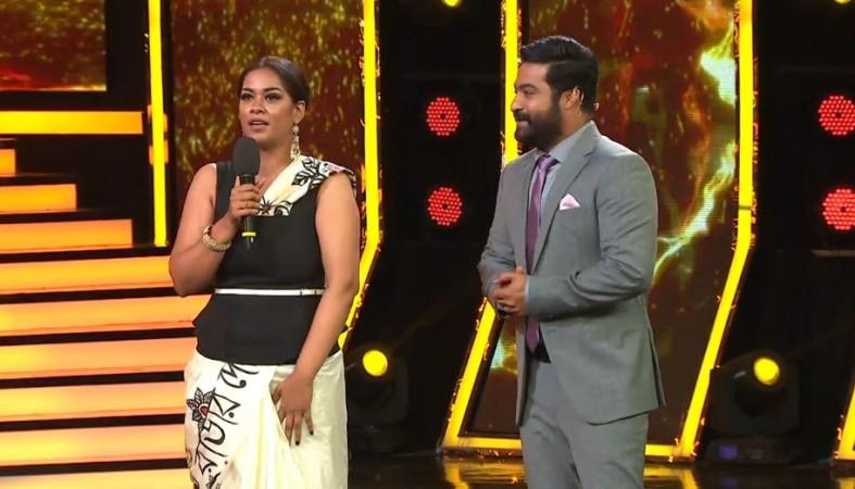 Mumaith Khan with Jr NTR on Bigg Boss Telugu