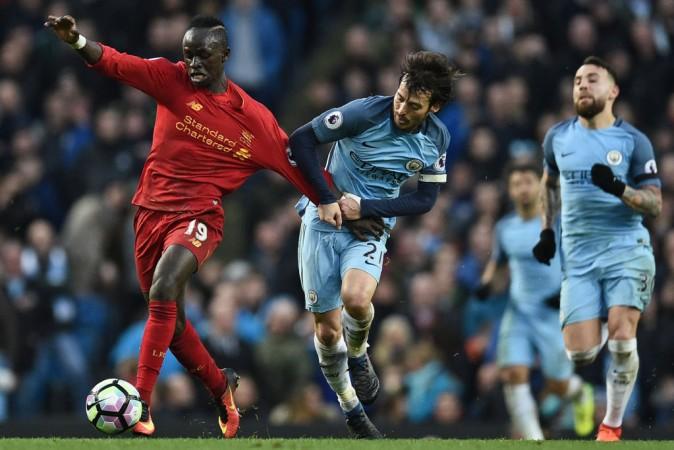 David Silva, Sadio Mane, Manchester City vs Liverpool