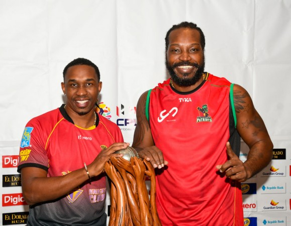 Chris Gayle and Dwayne Bravo