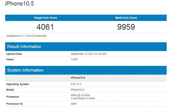 iPhone X benchmarks