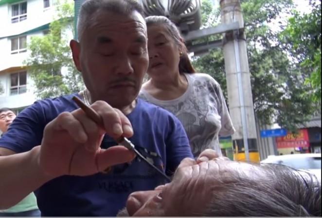 Eyeballs shaving in China