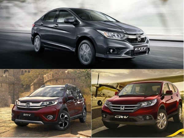 GST Cess Honda City BR V CR Prices Increased By Up To Rs 90000