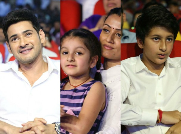 Mahesh Babu's wife and kids at Spyder pre-release event