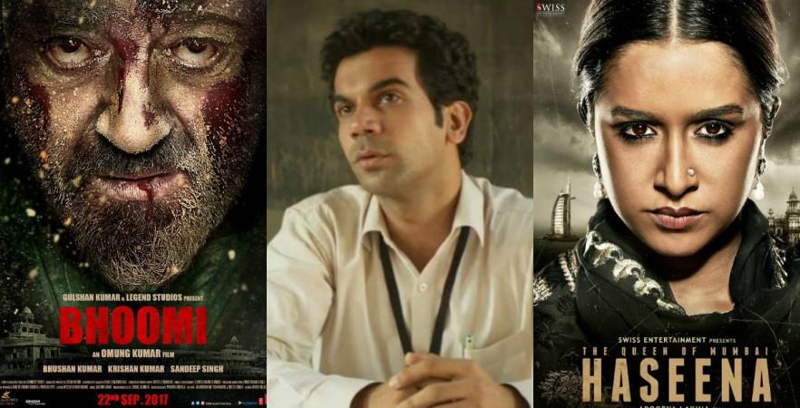 Bhoomi, Newton, Haseena Parkar posters
