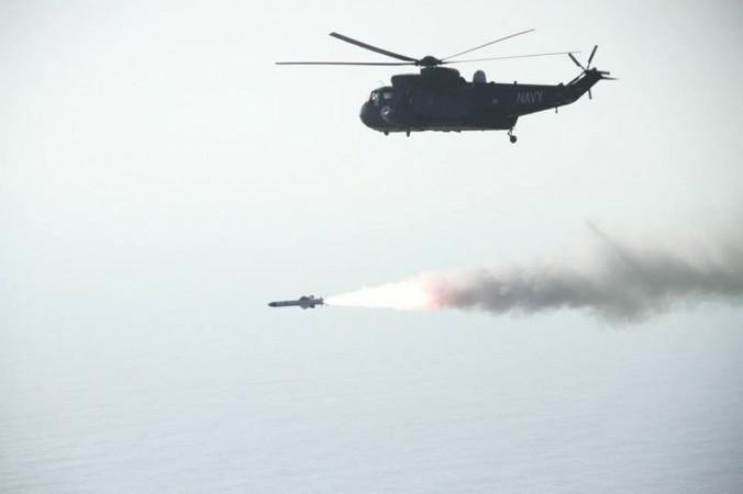 Pakistan Sea King helicopter in the northern Arabian Sea