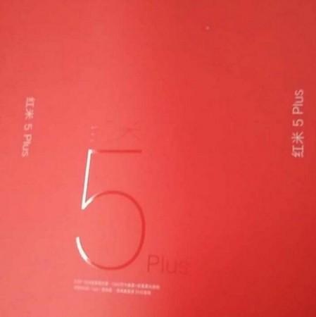 Xiaomi Redmi 5 Plus, retail box, specifications, launch date, features