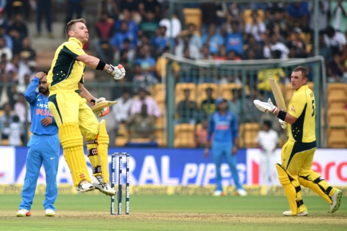 David Warner, Aaron Finch, India vs Australia