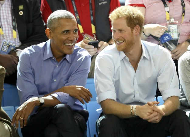 Prince Harry Barack Obama