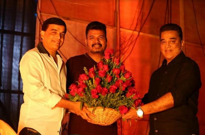 Director Shankar and producer Dil Raju at Kamal Haasan's Indian at the grand finale of Bigg Boss Tamil