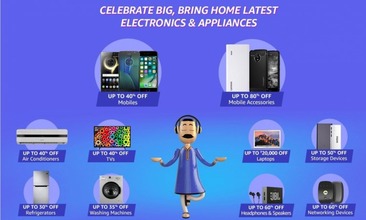 Amazon, Great Indian Sale, Diwali edition, best offers on mobile, Smart TVs
