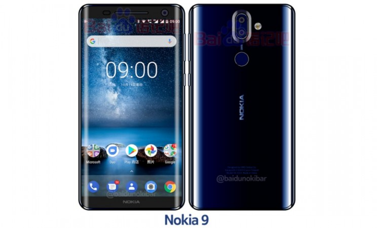 Nokia 9 Polished Blue variant as seen on Baidu