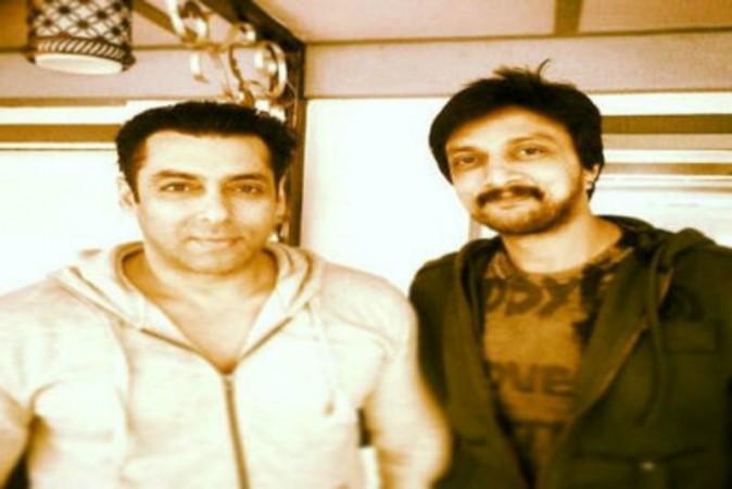 Sudeep with Salman Khan