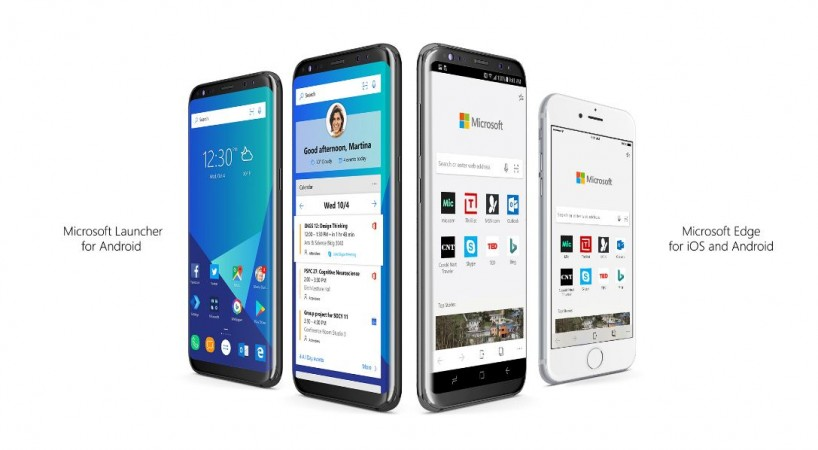 Microsoft Launcher, Microsoft Edge, Apple, iOS, Android, Google Play store, Apple App store, Apple TestFlight