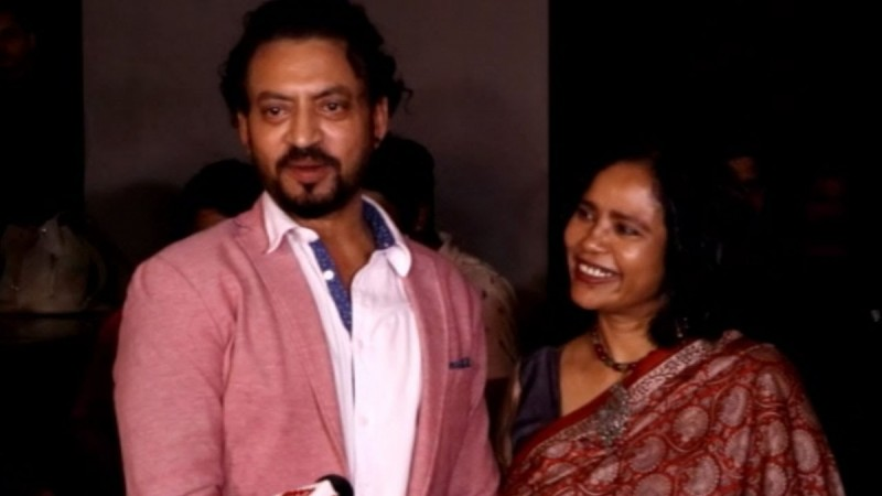 Irrfan Khan with wife