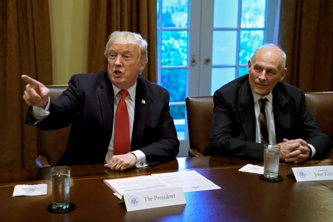 United States President, Donald John Trump and White House Chief of Staff John Francis Kelly