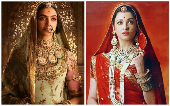 Deepika Padukone in Padmavati and Aishwarya Rai Bachchan in Jodha Akbar