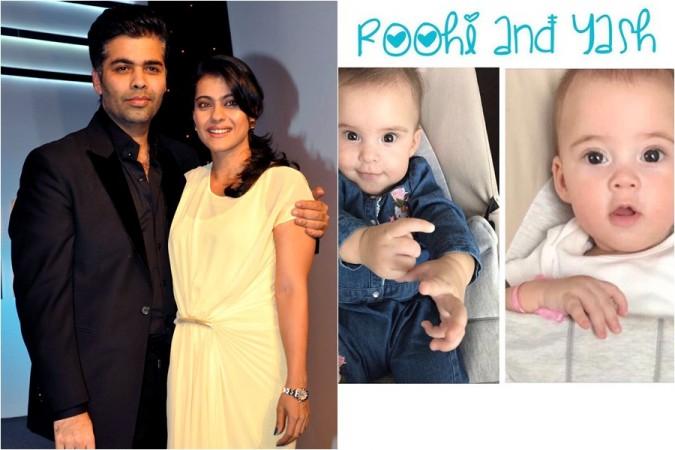 Karan Johar Kajol Twins Roohi and Yash