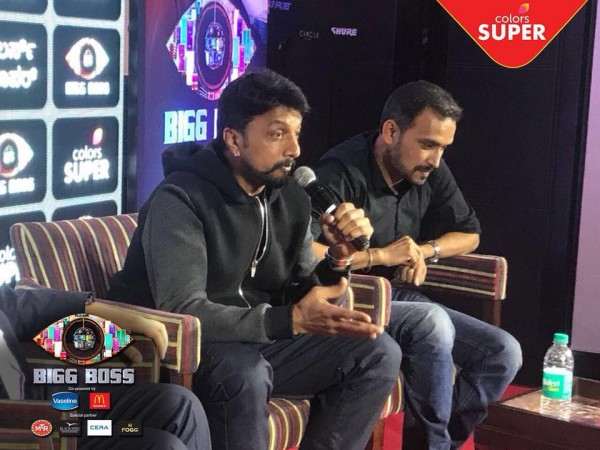 Sudeep at the Bigg Boss Kannada 5 Press Meet