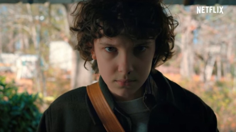 Millie Bobby Brown as Eleven in Stranger Things Season 2
