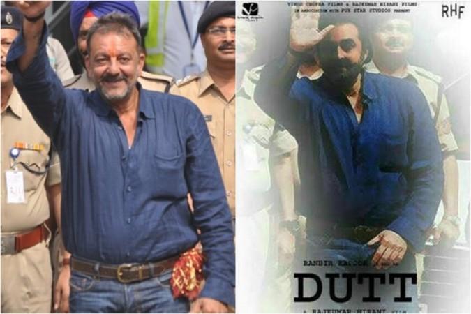 Sanjay Dutt biopic poster leaked Ranbir Kapoor