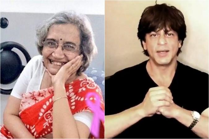 Shah Rukh khan Meets Aruna