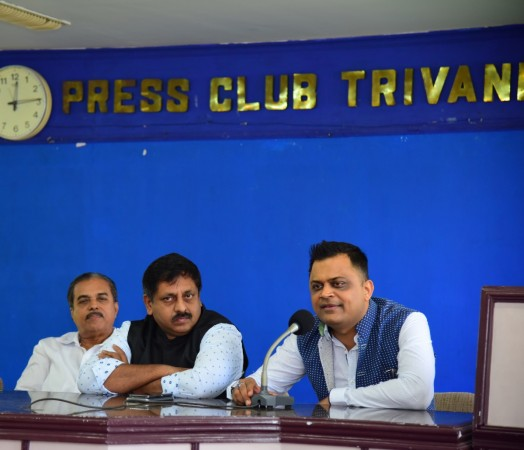 Badal Saboo, Chairman, Badal Saboo Group and Face of India addressing the media.