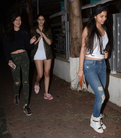 Suhana Khan with besties Aahana Pandey and Shanaya Kapoor.