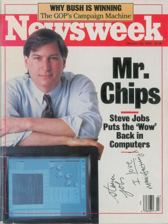 Steve Jobs signed Newsweek magazine