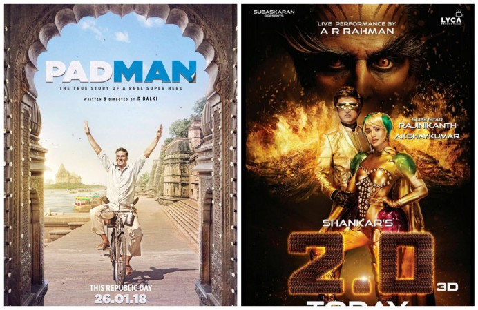 Akshay Kumar's Padman and Rajinikanth's 2.0