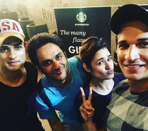 Prince Narula, Yuvika Chaudhary with Bigg Boss 11 contestants Vikas Gupta and Priyank Sharma