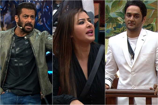 Salman Khan, Shilpa Shinde, Vikas Gupta