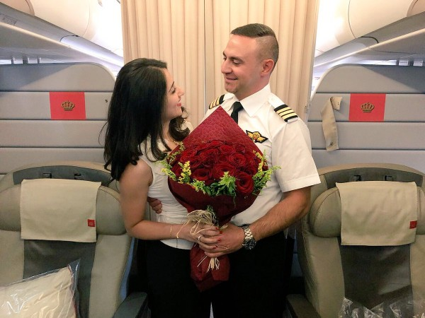 Captain Richard Abu Manneh proposed to a very special passenger