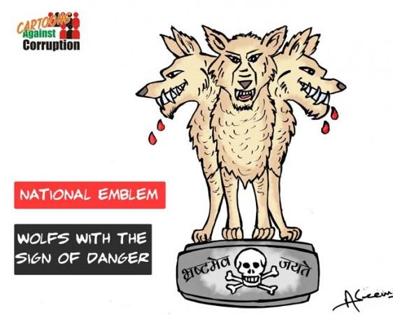 The caricature by Aseem Trivedi
