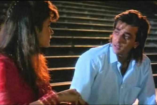 Sanjay Dutt and Pooja Bhatt in Sadak