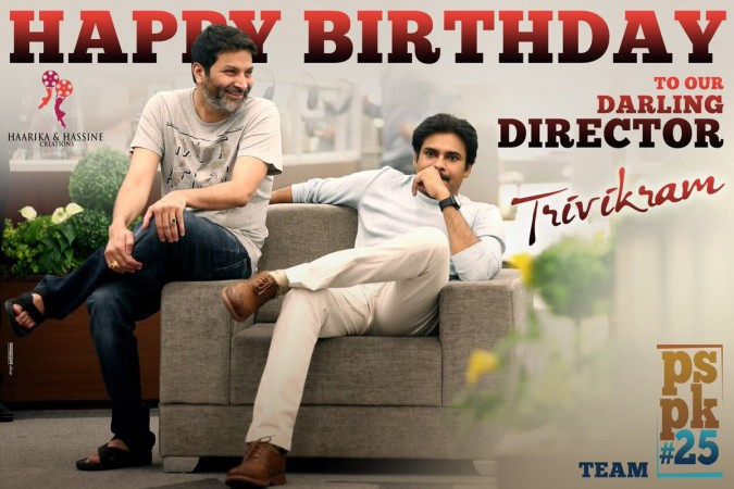Trivikram Srinivas on the sets of PSPK25