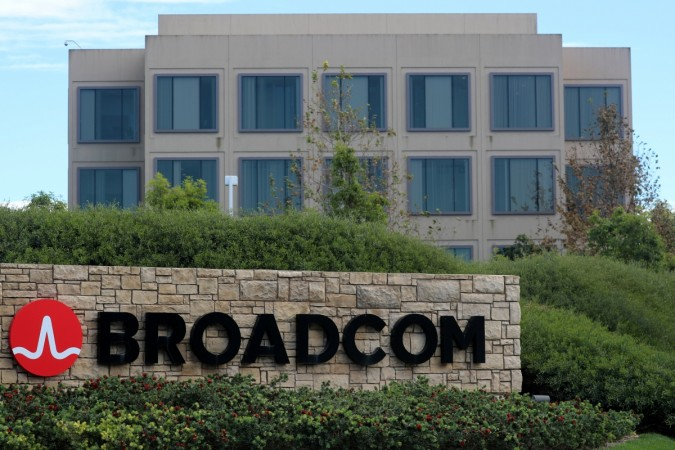 A sign to the campus offices of chip maker Broadcom Ltd
