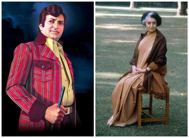 NTR and Indira Gandhi