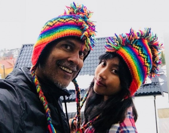 Milind Soman and his girlfriend Ankita Konwar