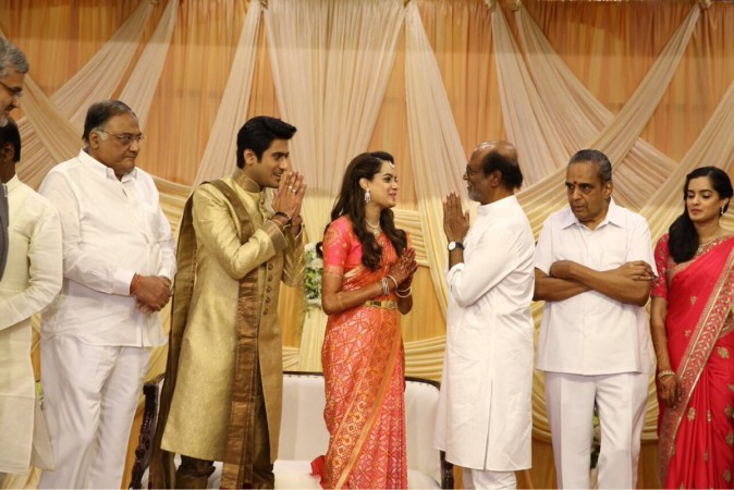 Rajinikanth at Aparna-Maitreya's Wedding