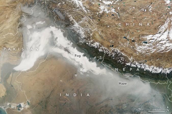 NASA Delhi pollution