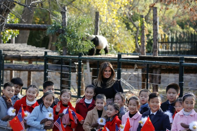 Melania Trump Panda photo